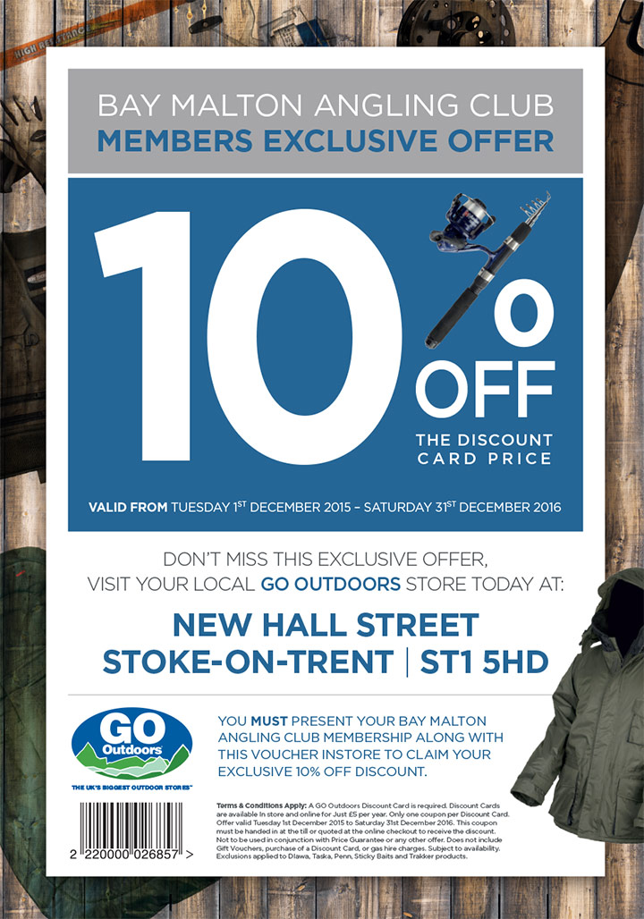 10%percent off at Go Outdoors